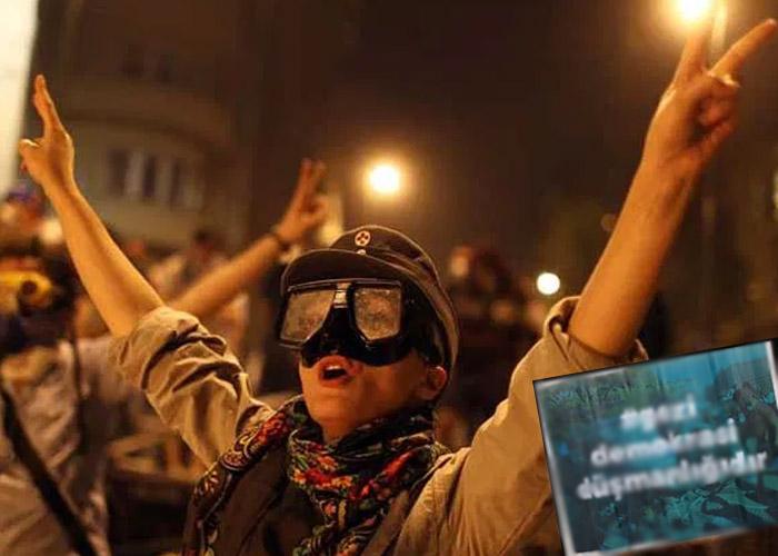 İmzasız afişlerle Gezi direnişini hedef aldılar
