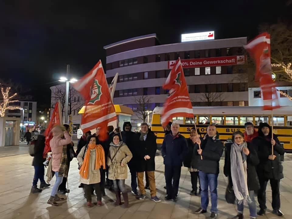 Hanau'daki ırkçı terör Hamm'da da protesto edildi