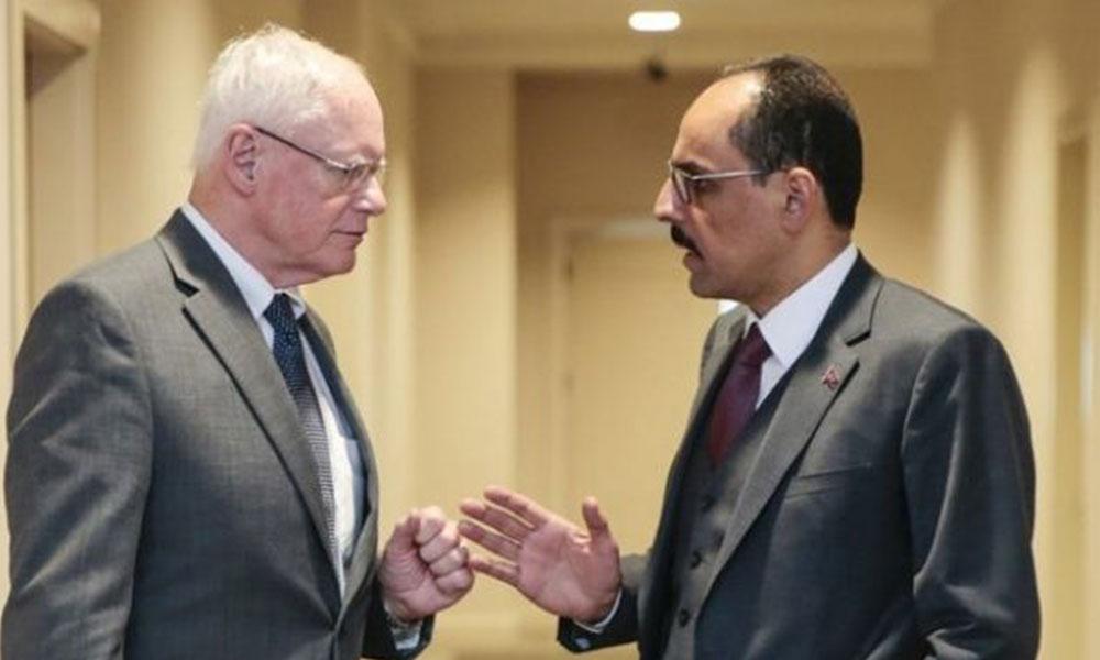 İbrahim Kalın, ABD'nin Suriye Özel Temsilcisi Jeffrey ile görüştü