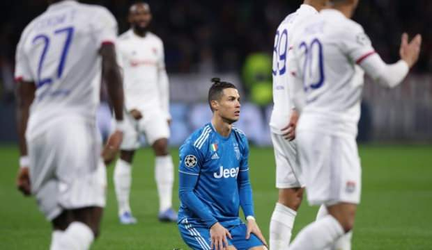 Ronaldo'lu Juventus, Lyon'da yıkıldı! City tur kapısını araladı… Şampiyonlar Ligi'nde gecenin sonuçları…