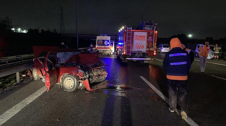 İstanbul'da feci kaza! Önce bariyerlere sonra başka otomobile çarptı: 2 ölü