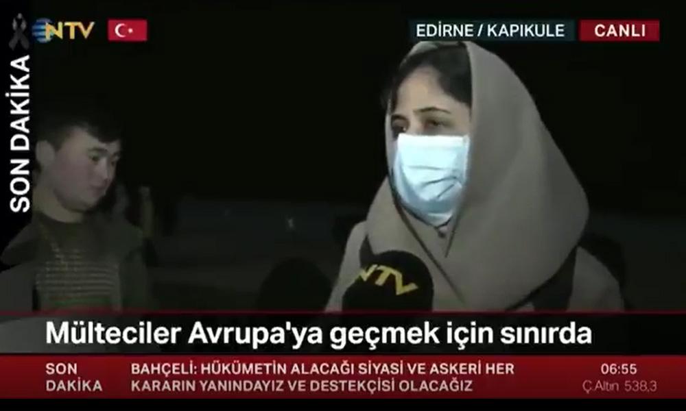 NTV, bu videoyu yayından kaldırdı: 'Otobüsler bizi bedava getirdi'