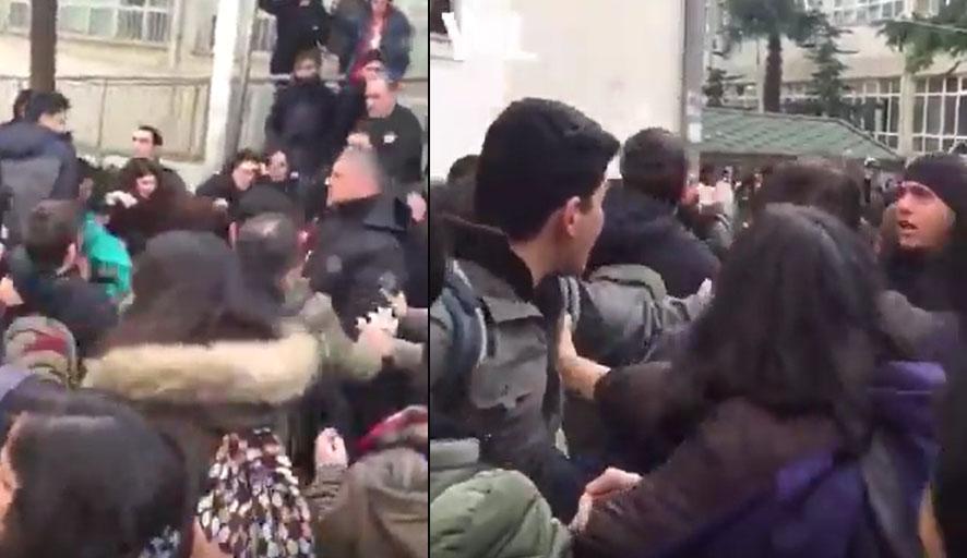 İstanbul Üniversitesi'nde yaşamına son veren Hakan Taşdemir'i anmak isteyen öğrencilere saldırı