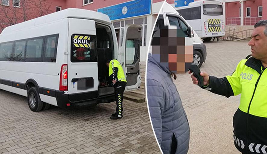 Öğrenci servis şoförü alkollü çıkınca öğrencileri polis bıraktı