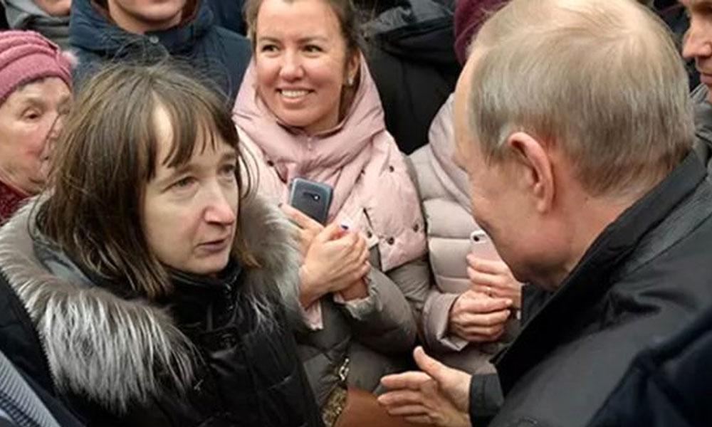 Rus kadının sorduğu soru Putin'i utandırdı… Kızardı, cevap veremedi