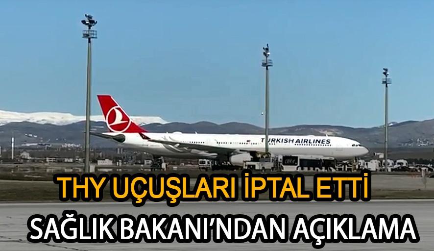 Ankara'da koronavirüs alarmı! Tahran uçağı acil iniş yaptı, THY uçuşlarını iptal etti