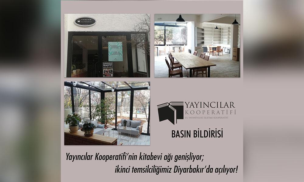 Yayıncılar Kooperatifi'nin kitabevi ağı genişliyor… İkinci temsilcilik Diyarbakır'da açılıyor