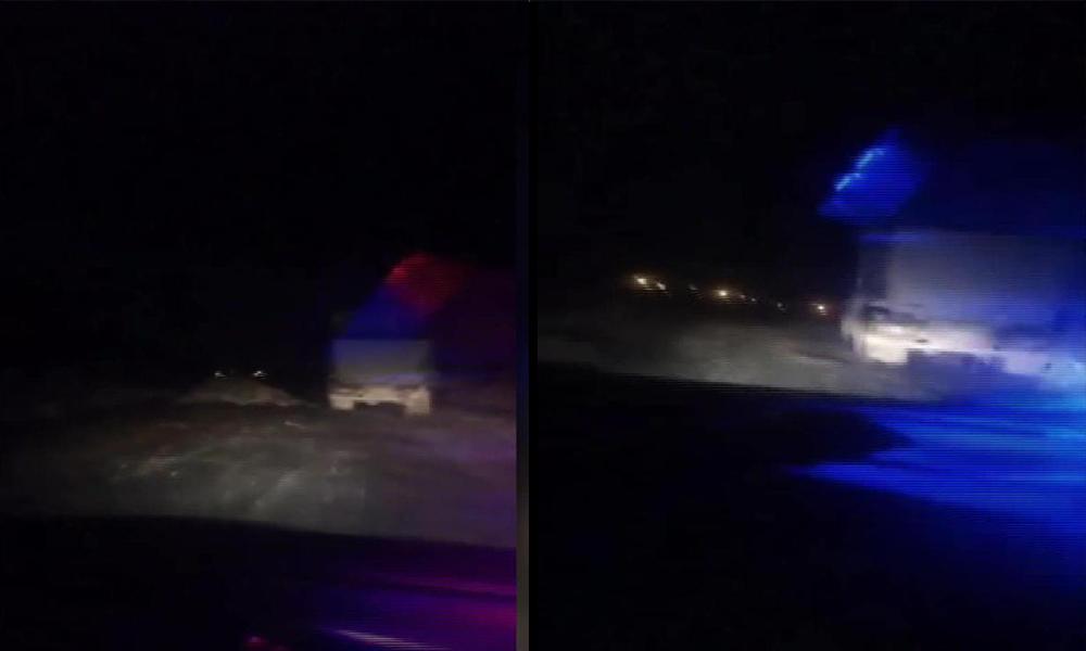 Kamyon şoförü kaçtı zabıta kovaladı… O anlar kamerada