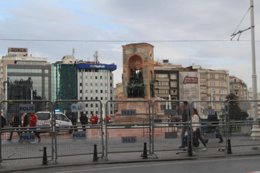 Taksim'de 8 Mart ablukası: Her yer bariyerlerle çevrildi