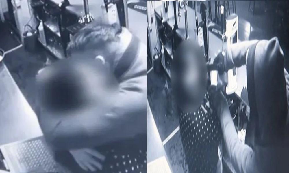 Soyguncu, kadına önce silah çekti sonra sarıldı!