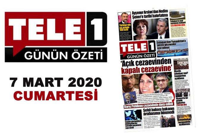 """Barış Pehlivan'a Silivri'de darp. Meclis izleniyor mu? """"Türkiye gazetecilerin yanında"""". İşte Türkiye'nin en zenginleri… 7 Mart Günün Özeti…"""