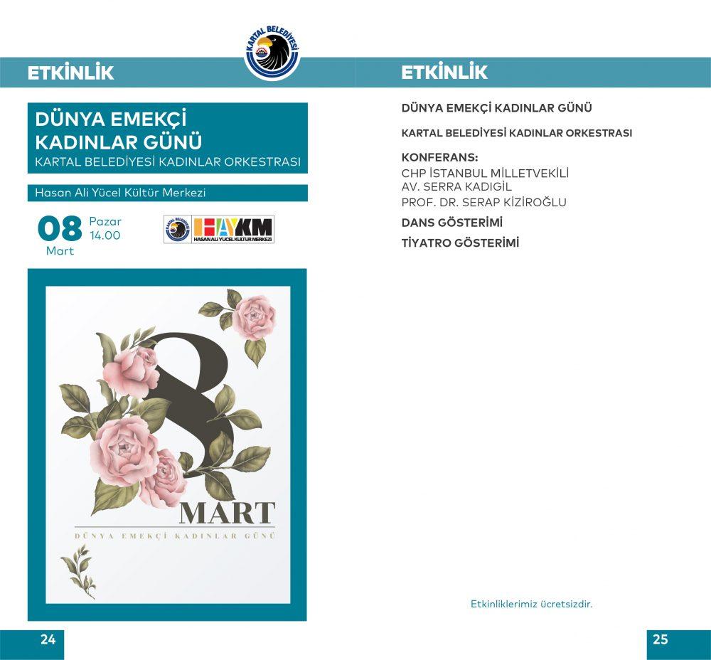 """Kartal Belediyesi'nden """"Dünya Emekçi Kadınlar Günü"""" konferansı"""