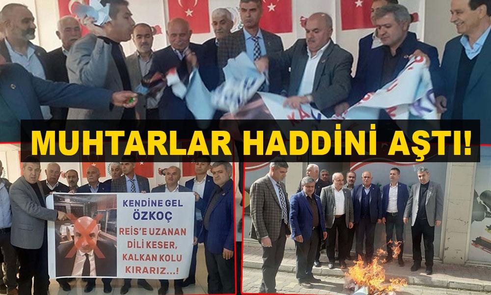 Muhtarlardan CHP'li Özkoç'a açık tehdit!