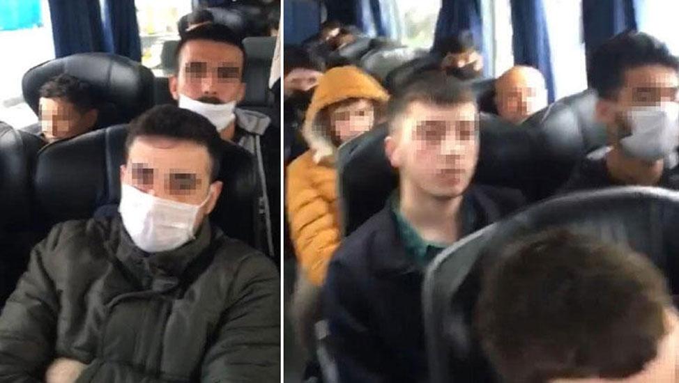 Otobüs yolculuğu yasağını deldiler! 46 kişiye para cezası ve karantina