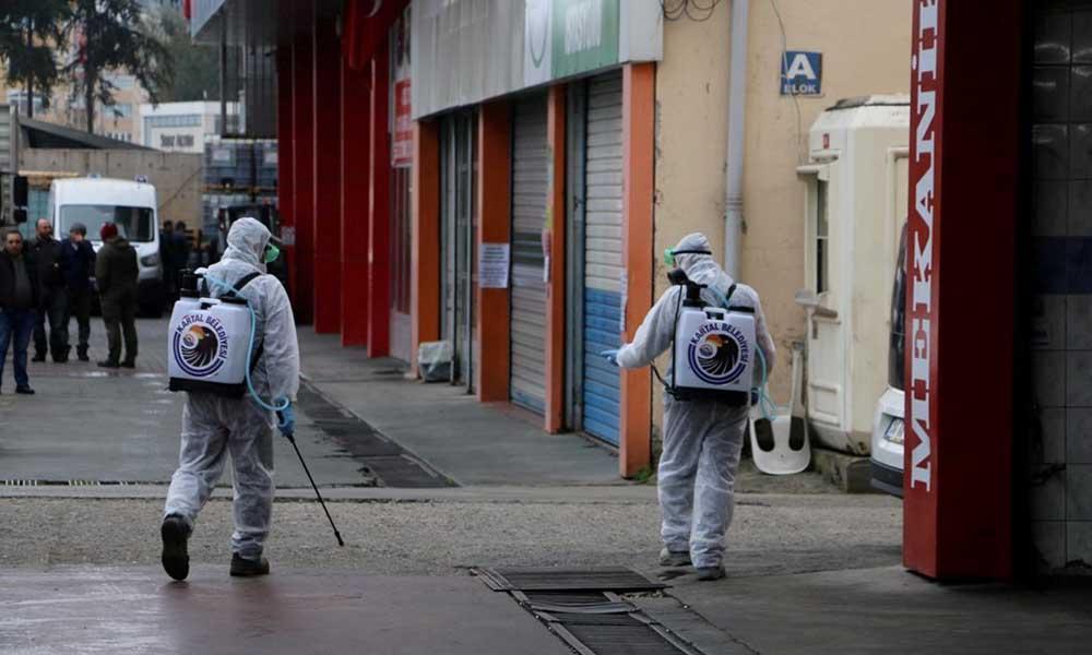 Ambulanslar ve Oto Sanayi Siteleri dezenfekte edildi