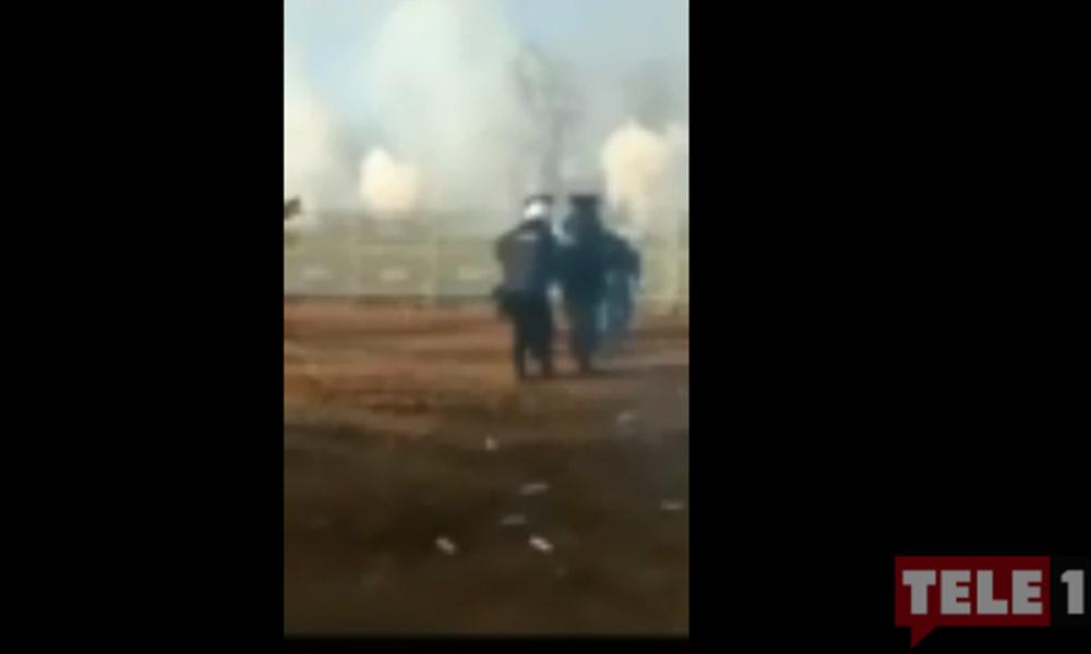 Yunan ve Türk polisi birbirlerine biber gazıyla karşılık verdi!