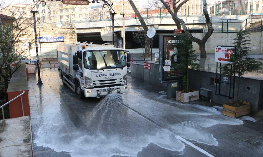 Kartal Belediyesi'nin koronavirüs ile etkin mücadelesi devam ediyor
