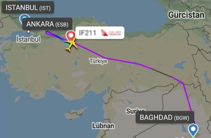Bağdat-İstanbul uçağı Ankara'ya zorunlu iniş yaptı! 57 Türk vatandaşı karantinaya alındı