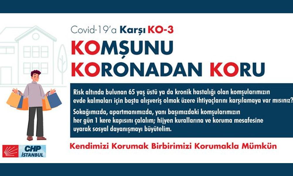 CHP Gençlik Örgütü'nden dayanışma çağrısı… 'Riskleri en aza indirelim'