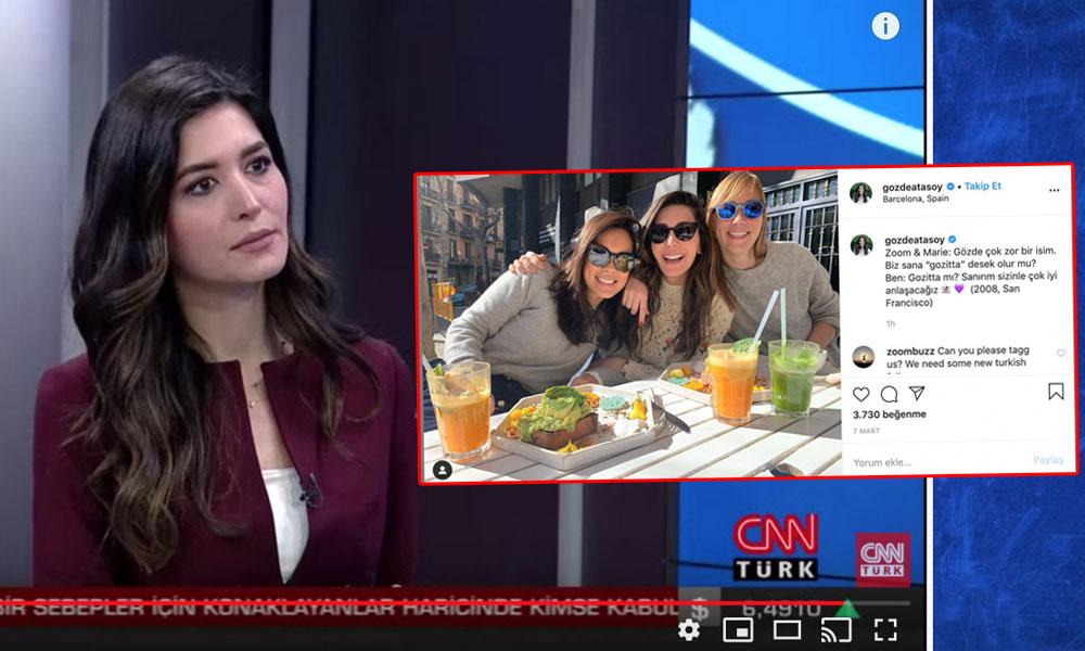 CNN Türk spikeri yurt dışından gelir gelmez yayına çıktı!