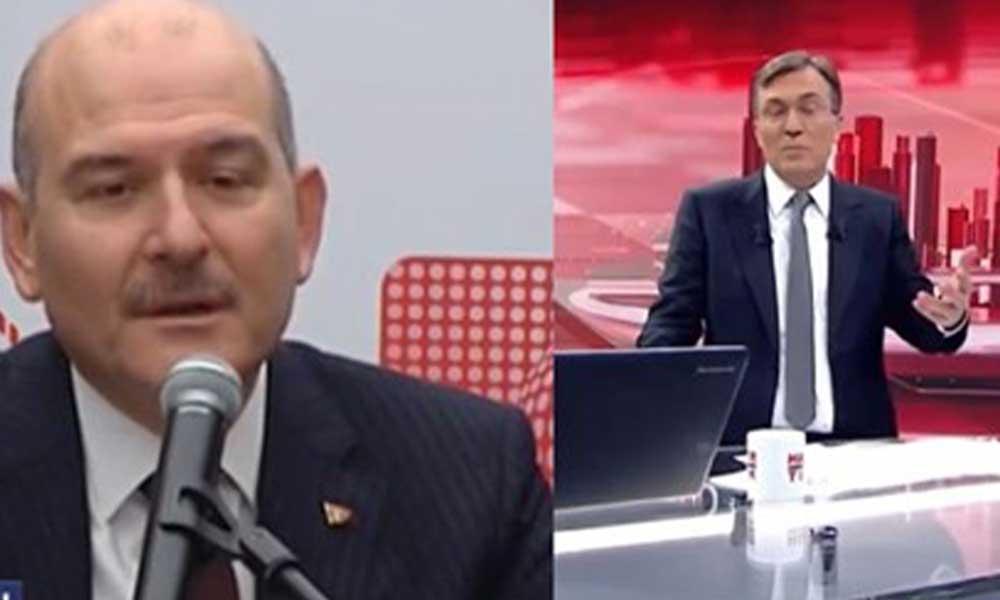 Habertürk'ten Süleyman Soylu'ya 'gazetecilik dersi' tepkisi