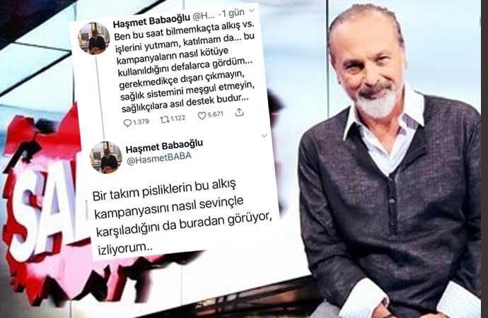 Sabah yazarı Haşmet Baboğlu 'Pislikler' demişti. Erdoğan alkışlayınca hesabını kapattı