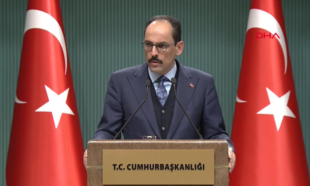 Saray Sözcüsü Kalın'dan 'darbe' açıklaması