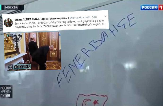 Moskova ziyaretinde tahtaya 'Fenerbahçe' yazan belli oldu