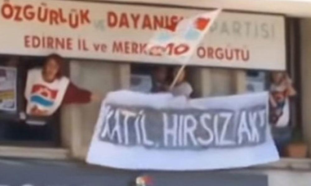 'Katil, hırsız AKP' pankartı ifade özgürlüğü