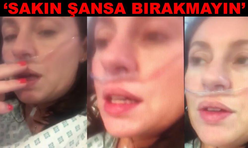 Yoğun bakımdan video paylaşan korona hastası kadının mücadelesi