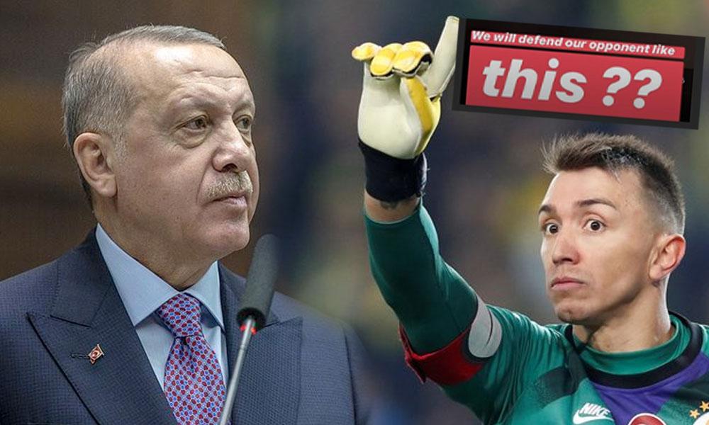 Muslera'dan Erdoğan'ın sözlerine sert tepki!