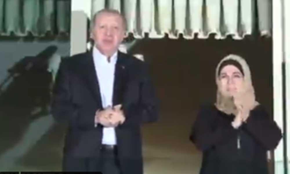Yandaşlar eleştirmişti! Erdoğan alkış eylemine katıldı