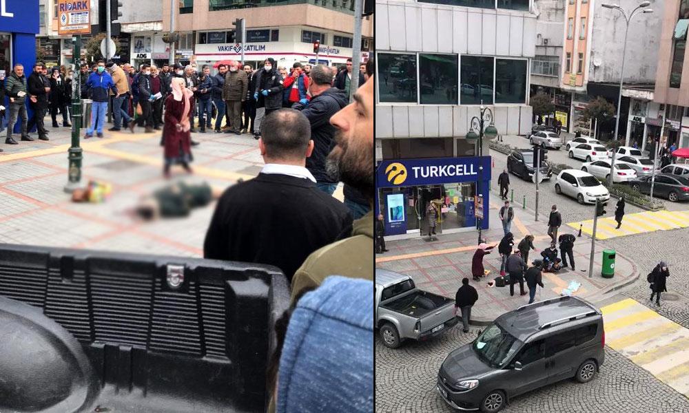 Rize'de bir kadın sokak ortasında başından vuruldu