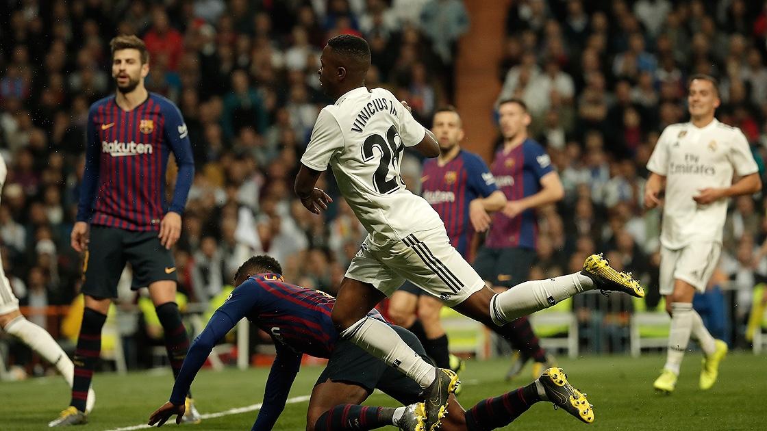 El Clasico'da zafer Real Madrid'in, rekor Vinicius Junior'un