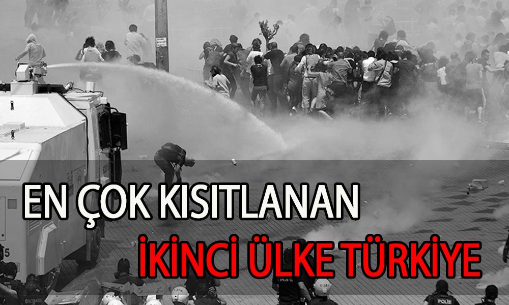 Türkiye, Brundi'den sonra özgürlüklerin en çok kısıtlandığı ikinci ülke oldu