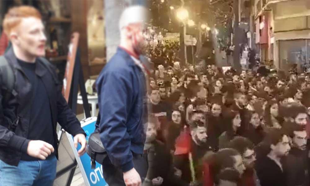 Yunan halkı sokakta, Alman ırkçıları dövdüler