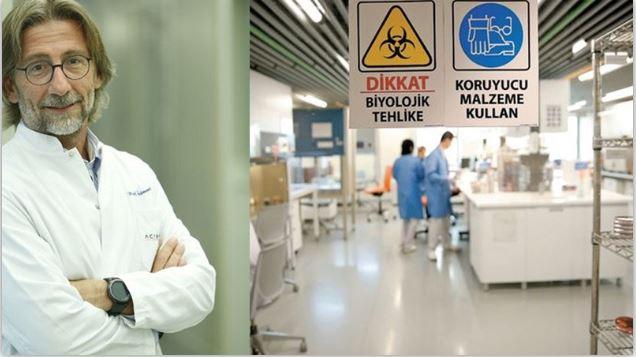 Prof. Ercüment Ovalı, aşı üretim hazırlıklarından fotoğraf paylaştı