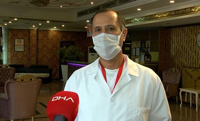 Pandemi hastanesinin çalışanları, 1 aydır ailelerinden ayrı