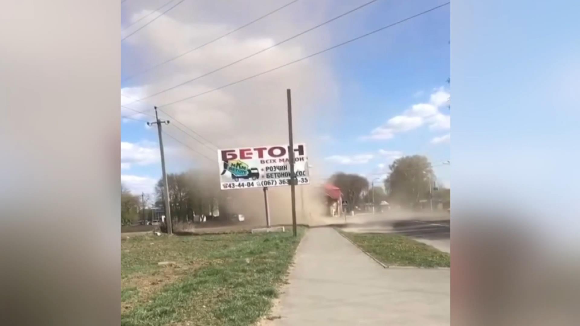 Ukrayna'da toz fırtınası