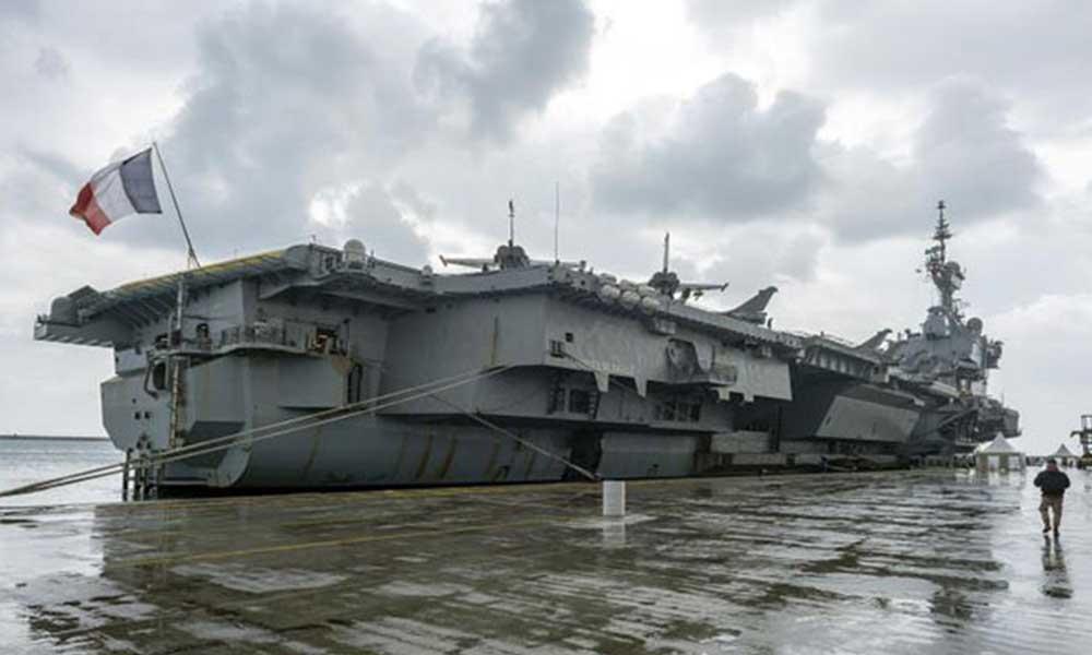 Fransız uçak gemisi Charles de Gaulle'de Kovid-19 vaka sayısı 668'e yükseldi