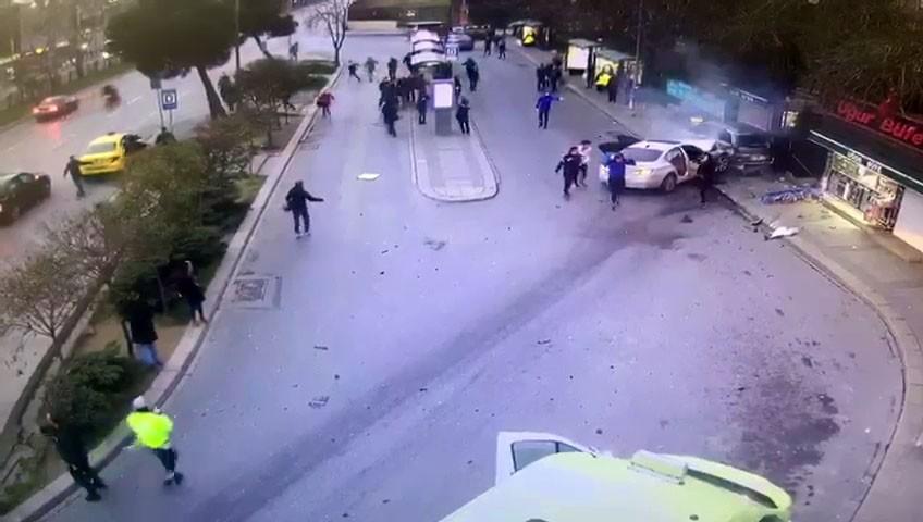Beşiktaş'taki feci kazanın görüntüleri ortaya çıktı
