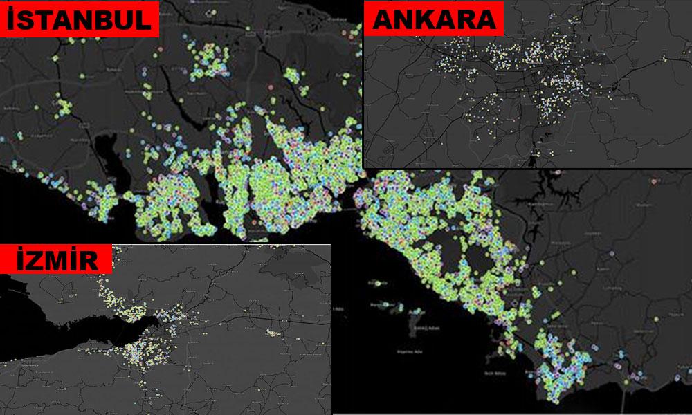 İşte koronavirüs salgınında İstanbul, Ankara ve İzmir'de en riskli ilçeler