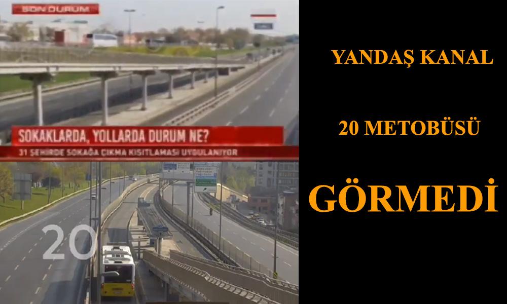 Habertürk yarım saattir metrobüs yok dedi İYİ Partili Özkan MOBESE ile yalanladı