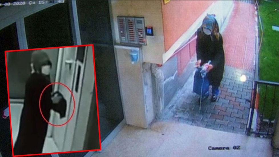 Binalara girip elindeki sıvıyı her yere süren kadın gözaltına alındı