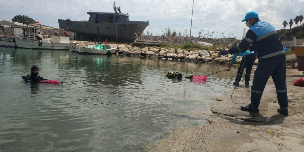 Yumurtalık ve Karataş'ta sahil ve liman temizliği