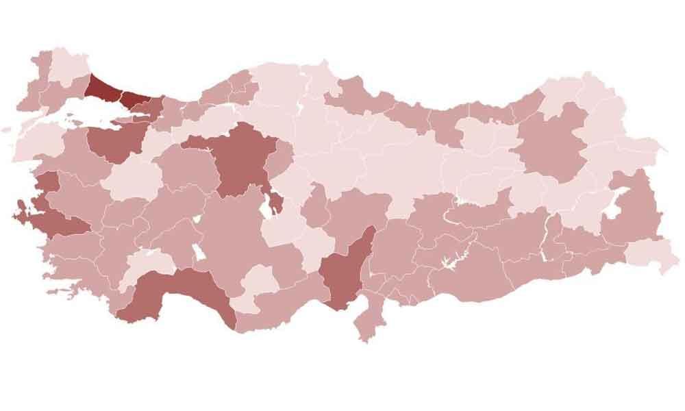 Korona risk haritası