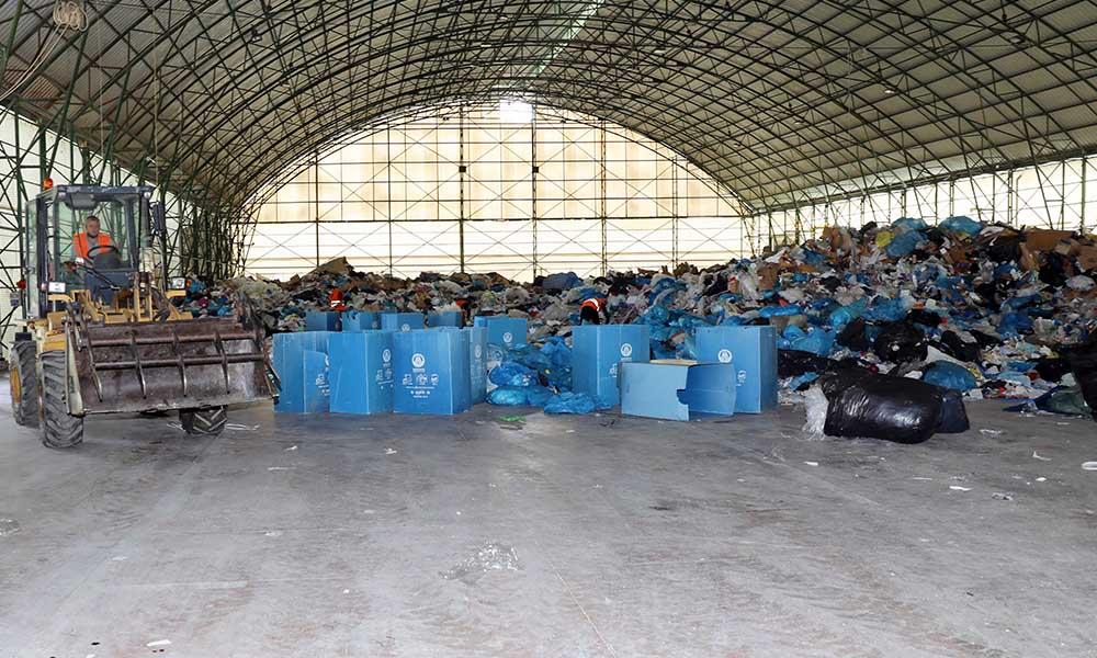 Mudanya Belediyesi 80 ton atığı ekonomiye kazandırdı