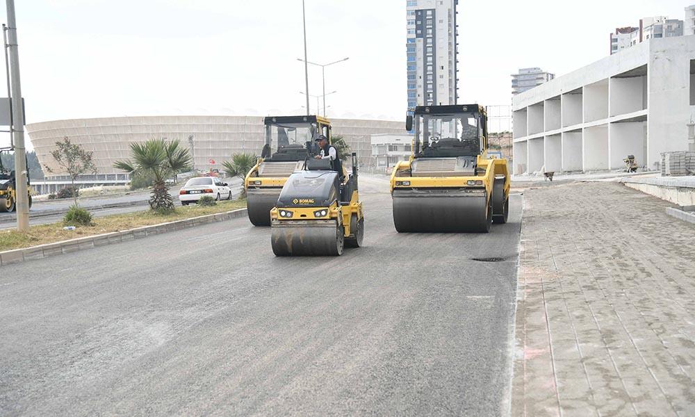 Yeni stat çevresine asfalt dökümü ve bisiklet yolu…