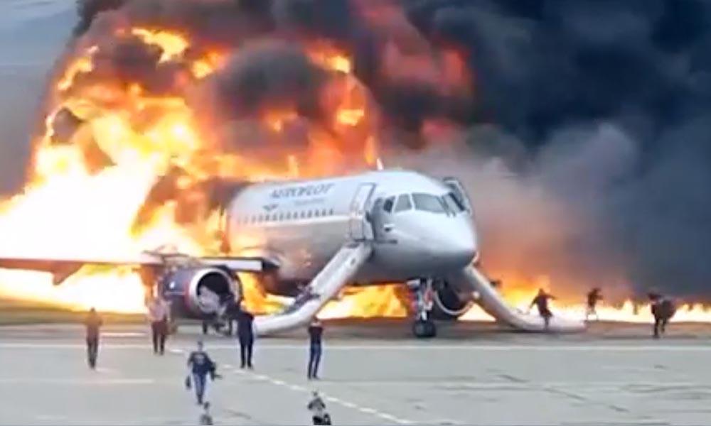 Rusya'daki uçak faciasının yeni görüntüleri ortaya çıktı!