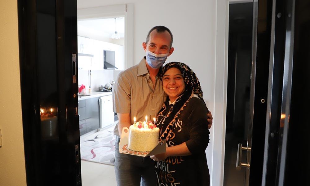 Başkan Gürün'den doğum günü sürprizi